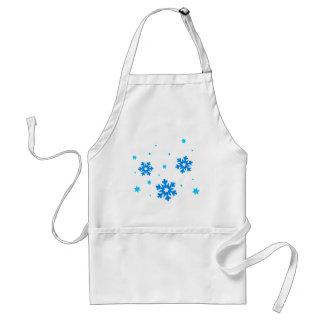 snowflake snowfall adult apron