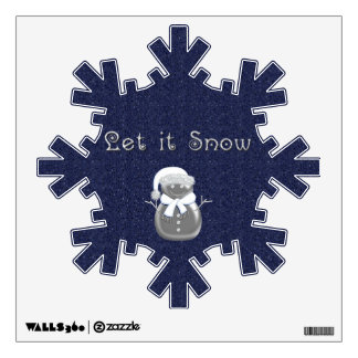 Snowflake Snowman Let it Snow Wall Decal
