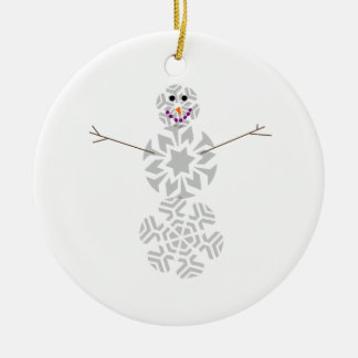 Snowflake Snowman Ornament