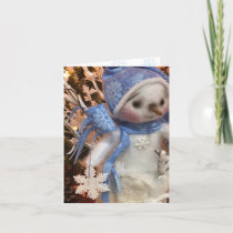 Snowflake Snowman Winter Wonderland Boot 3 Holiday Card