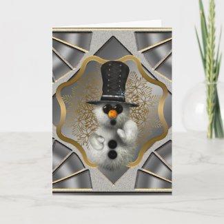 Snowflake Snowmen Christmas Card card