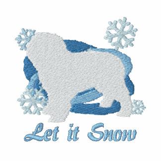 Snowflake Spanish Water Dog Embroidered Hoodie