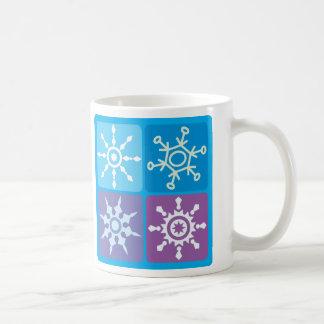 Snowflake Squares Coffee Mug