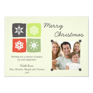 Snowflake Squares Holiday Card (charcoal)