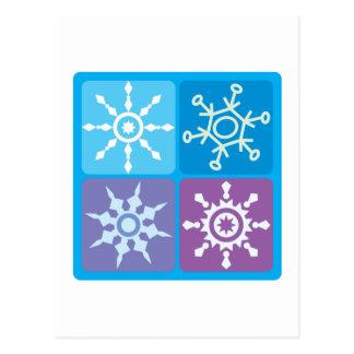Snowflake Squares Post Card