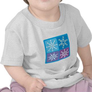 Snowflake Squares Tshirts