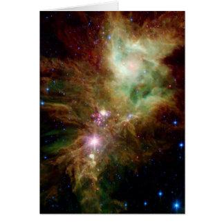 Snowflake Star Cluster Space NASA Card