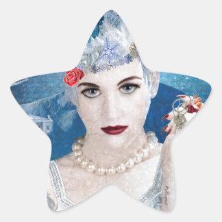 Snowflake Star Sticker