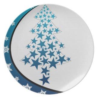 Snowflake & Stars Plate