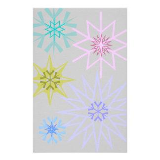Snowflake Stationary Customized Stationery