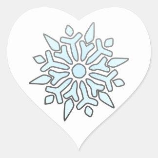 Snowflake Heart Sticker