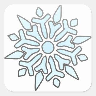 Snowflake Square Sticker