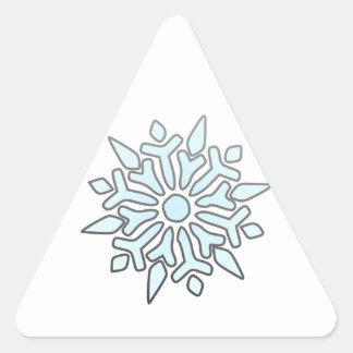 Snowflake Triangle Sticker