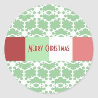 Snowflake Sticker on Mint Green- You Choose Color