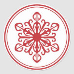 Snowflake Stickers - Red