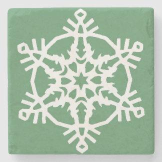 Snowflake Stone Coaster