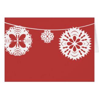 Snowflake String Greeting Card