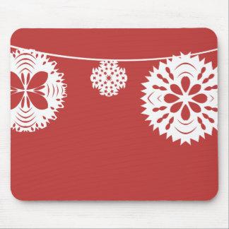 Snowflake String Mousepads