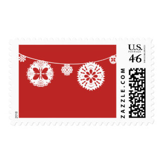 Snowflake String Postage Stamps