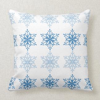 Snowflake Stripe Throw Pillow