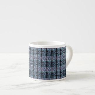 Snowflake Stripes Espresso Mug 6 Oz Ceramic Espresso Cup