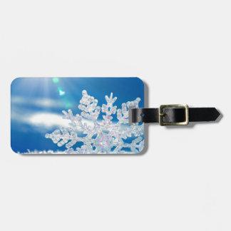 snowflake sunshine tag for luggage