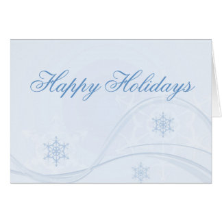 Snowflake Swirl Happy Holidays Card