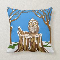 Snowflake the Owl Throw Pillow
