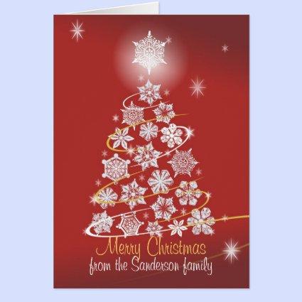 Snowflake Tree Card