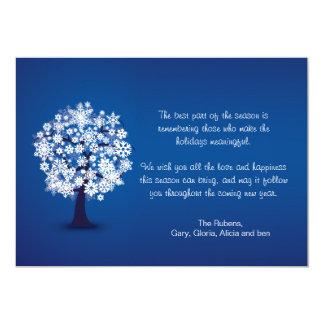Snowflake Tree Holiday Card Invite