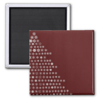 Snowflake Tree Refrigerator Magnets