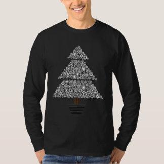 Snowflake Tree - Men's Long Sleeve (black) T-Shirt