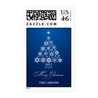 Snowflake tree stamp