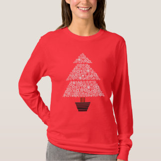 Snowflake Tree - Women's Long Sleeve (red) T-Shirt