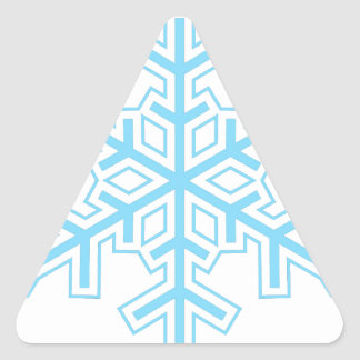 Snowflake Triangle Sticker