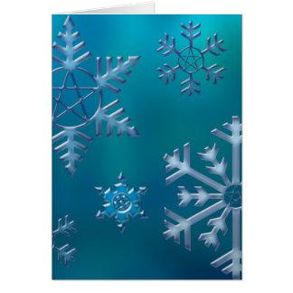 Snowflake V Greeting Card