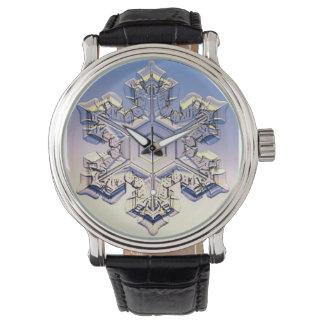 Snowflake Vintage Leather Strap Watch