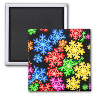 Snowflake Wallpaper 2 Inch Square Magnet
