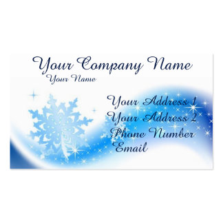 Snowflake Wave Double-Sided Standard Business Cards (Pack Of 100)