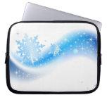 Snowflake Wave Laptop Sleeves