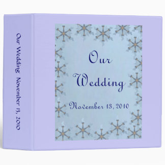 Snowflake Wedding Vinyl Binder