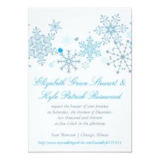 Snowflake Wedding Invitation Malibu Silver