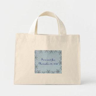 Snowflake Wedding Mini Tote Bag