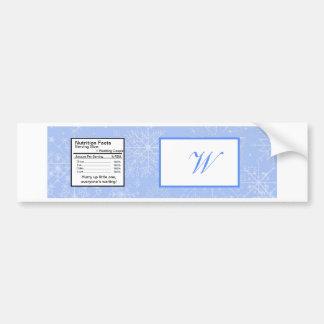 Snowflake Wedding Water Bottle Label