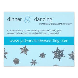snowflake wedding website profile card