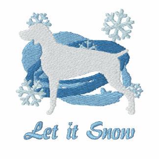 Snowflake Weimaraner Embroidered Sweatshirt