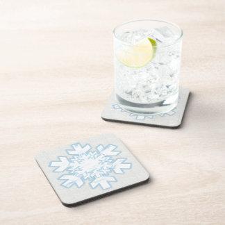 Snowflake (white) beverage coasters