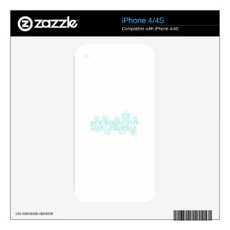 SNOWFLAKE WHITEOUT SKIN FOR iPhone 4S