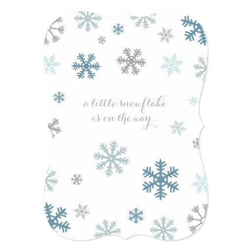 snowflake winter baby shower invitation zazzle