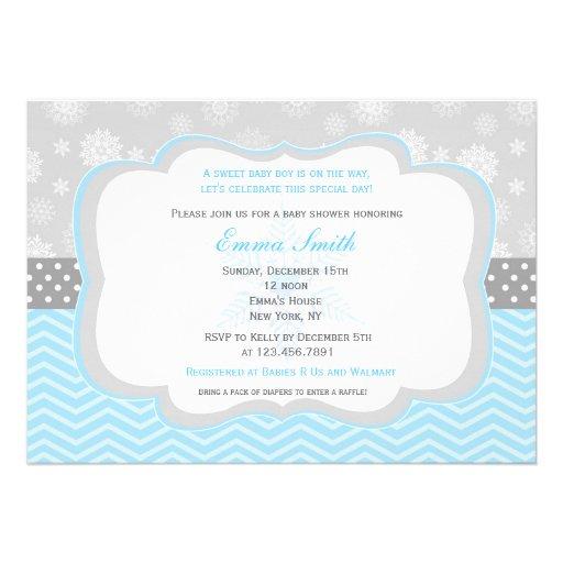 snowflake winter baby shower invitations zazzle
